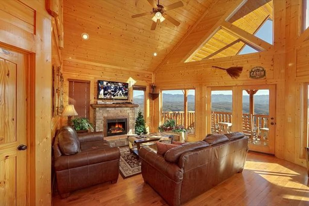 The living room is a great place to relax after all the days activities.