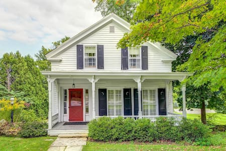 Historic dog-friendly home w/ sun room and private deck, steps to golfing