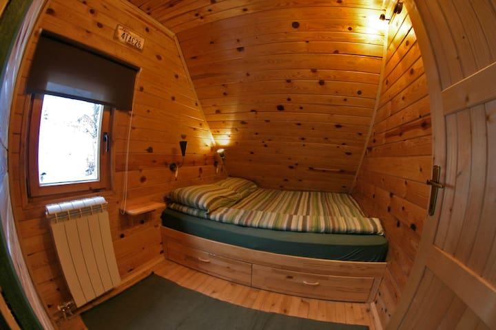 Tiny room for two in all wooden cabin (HALF BOARD)