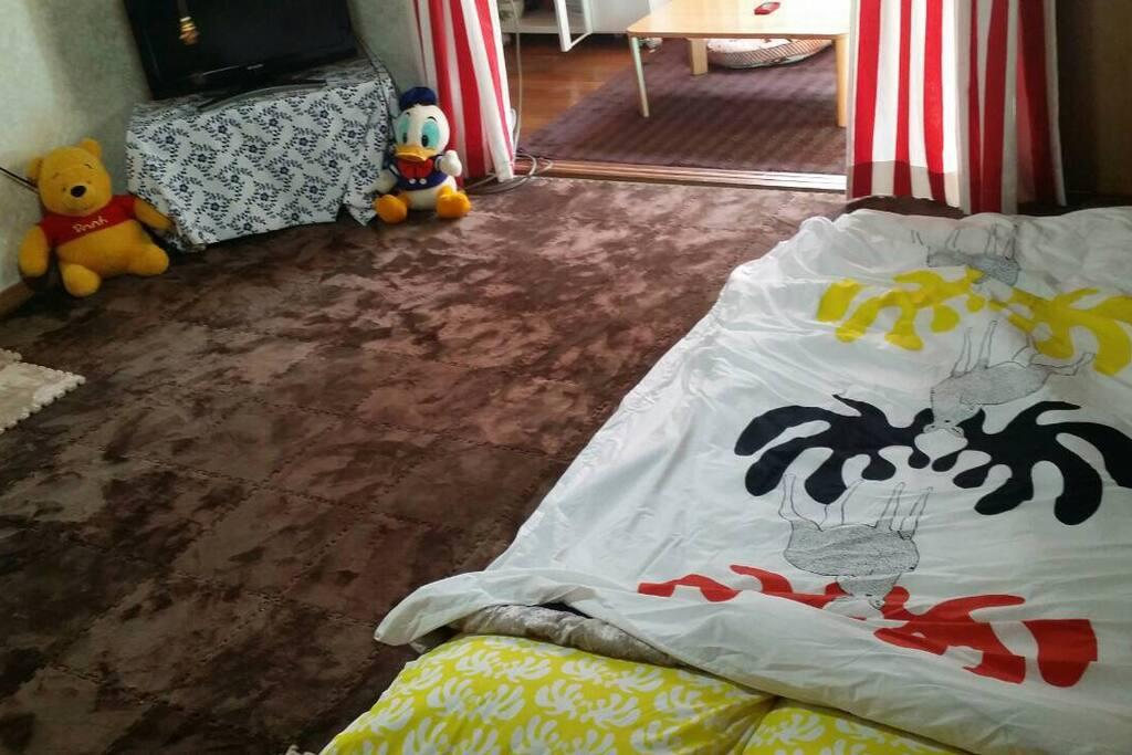 cozy futon room