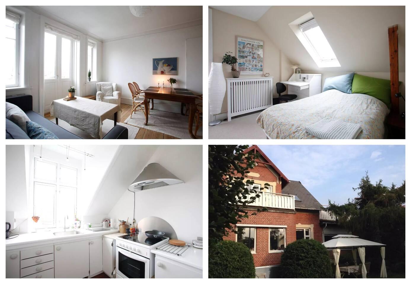 2 rooms w/ 2 terraces, own kitchen
