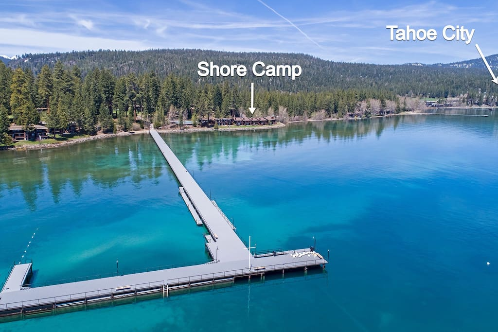 Shore Camp is a mile from downtown Tahoe City.