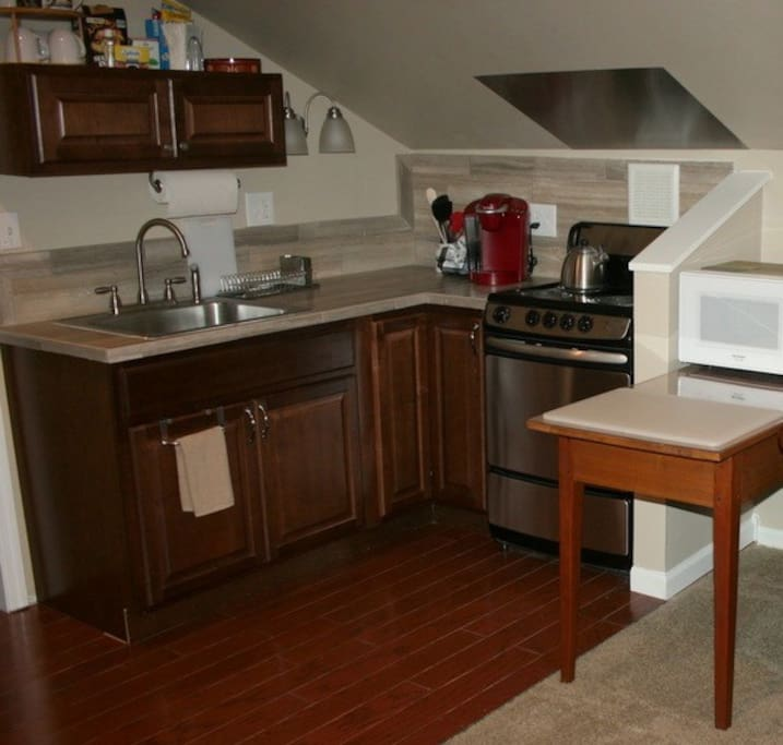 Your own fully functioning kitchen and stocked Keurig!
