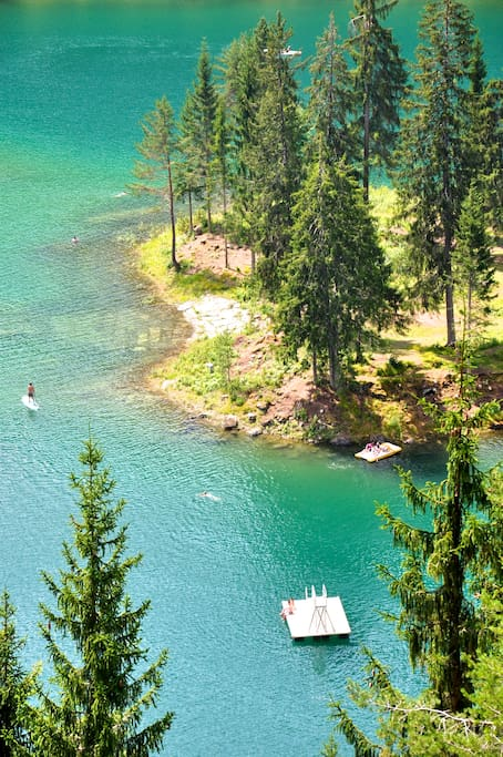 Mountain lake Caumasee (20 min by car) - summer swimming