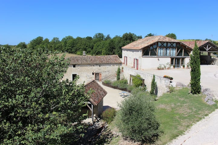 Beautiful Country house in the Quercy Blanc - Lauzerte - Villa