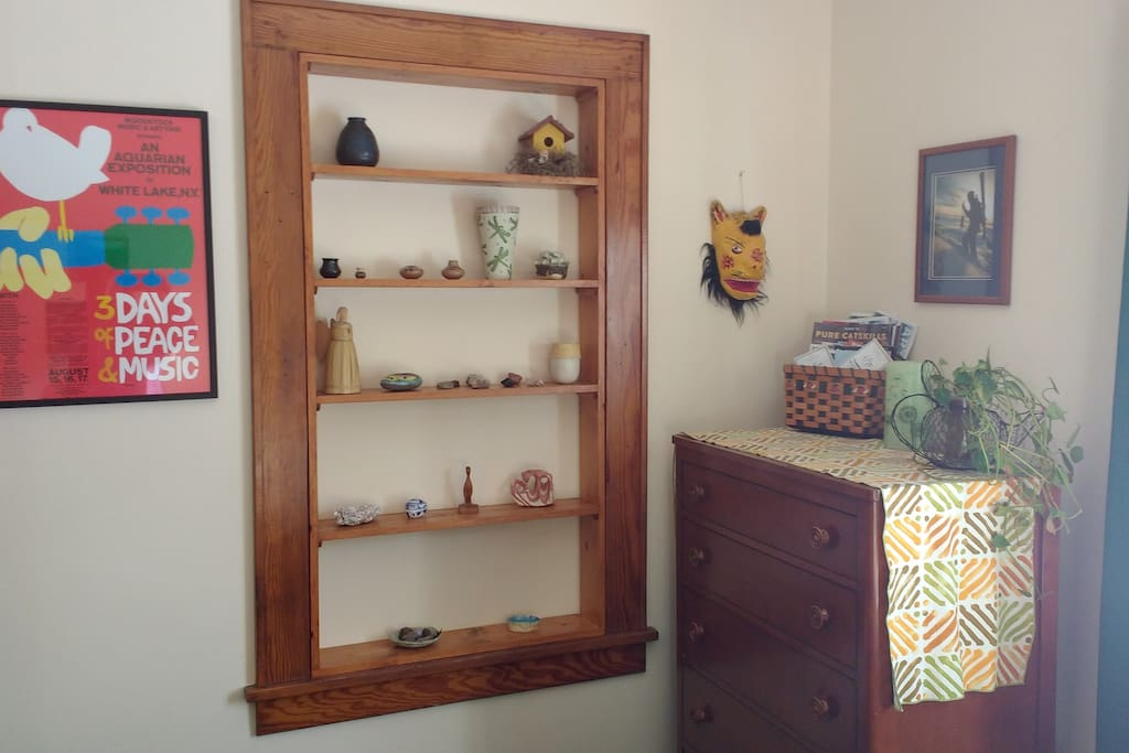 When remodeling, I had the the original window made into shelving...