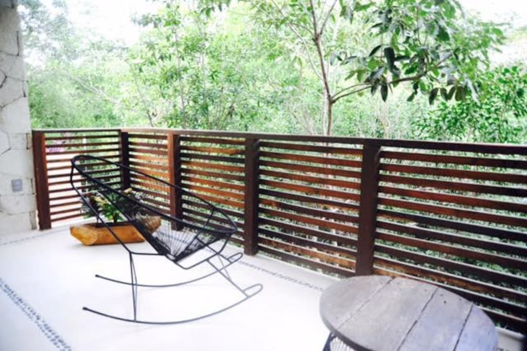 Secluded private terrace to enjoy the lush jungle