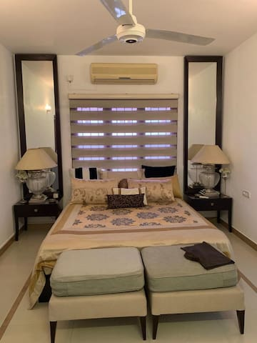 Private spacious room with maid service
