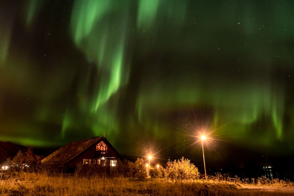 Northern lights over Jadar house