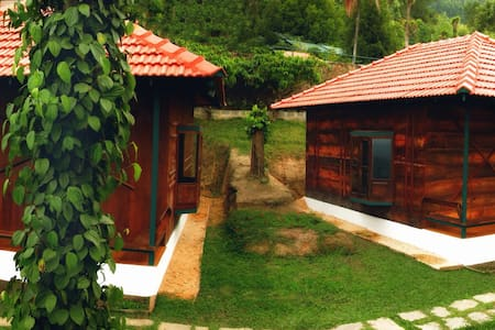 wooden cottages - Wayanad