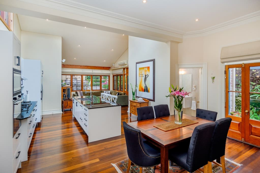 Open plan, living, dining and kitchen