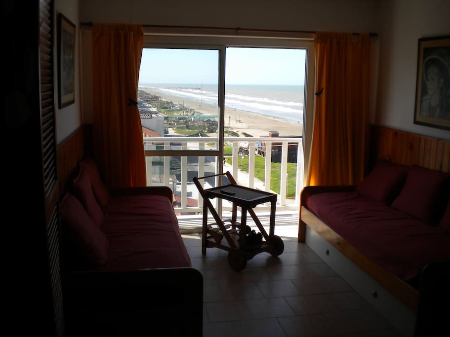 Living con vista al mar