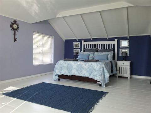 Spacious private bedroom with spectacular views