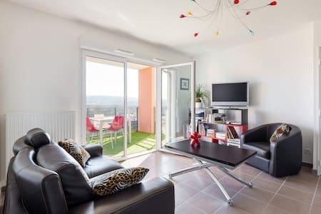 appartement lumineux avec belle vue - L'Isle-d'Abeau
