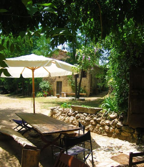 The Mill's al fresco dining area