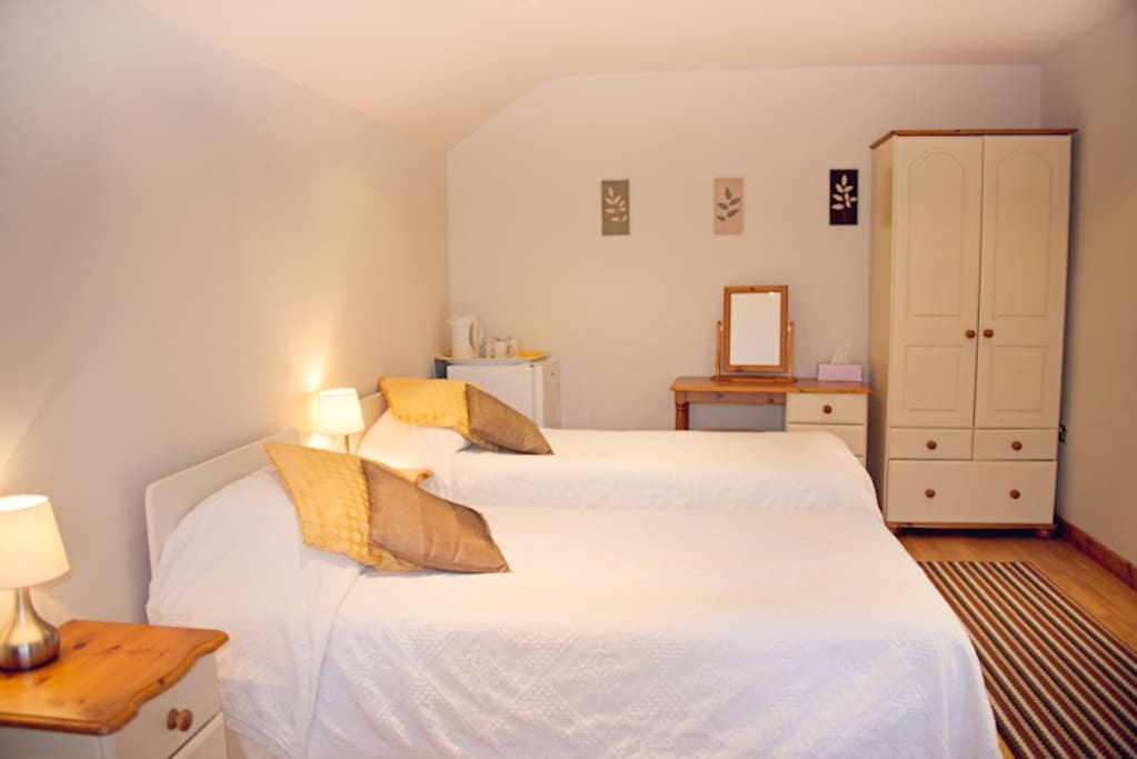 We have just refurbished our rooms this winter so all rooms now have a king bed and are lovely and fresh  & comfortable.