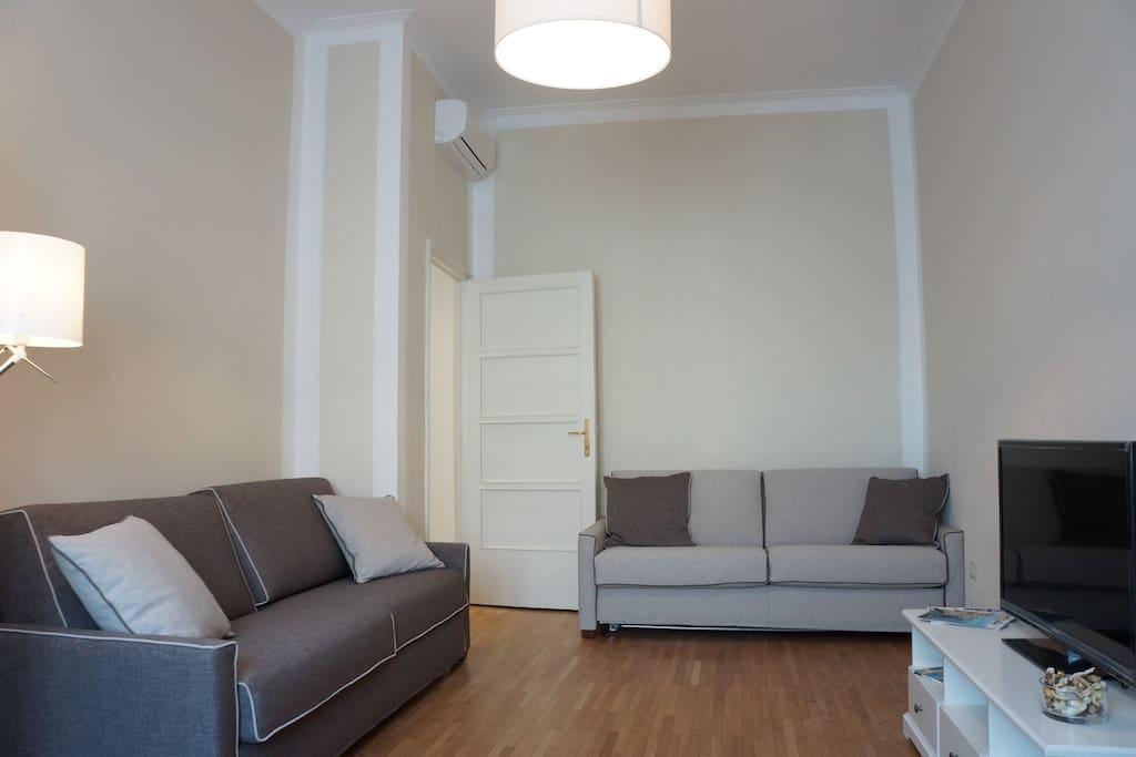 Livingroom sofa view
