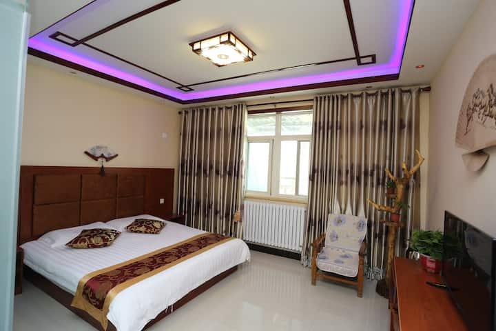 西安咸阳机场醒石轩独栋别墅新中式大床房(24小时免费接送机)