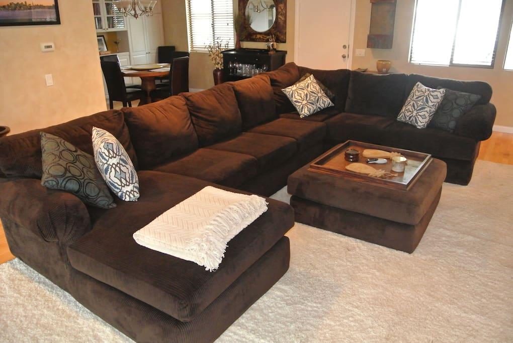 Super comfortable family room