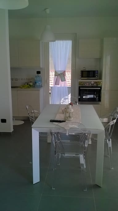 living room e cucina