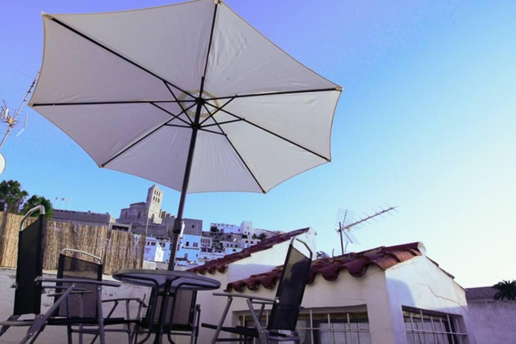 Roof terrace with vieuw