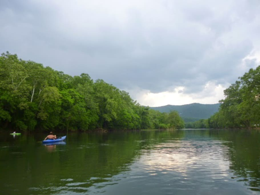 although not riverfront, Acorn Hill is walking distance to the river (and the Shenandoah River Outfitters!)