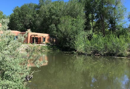 Between Santa Fe & Taos - Paradise Pond Casita