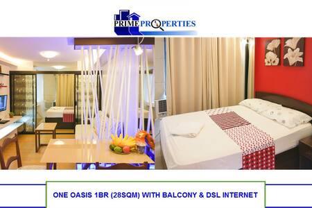 1BR One Oasis Davao Condo w/ DSL WiFi near SM Mall - Davao City - 公寓