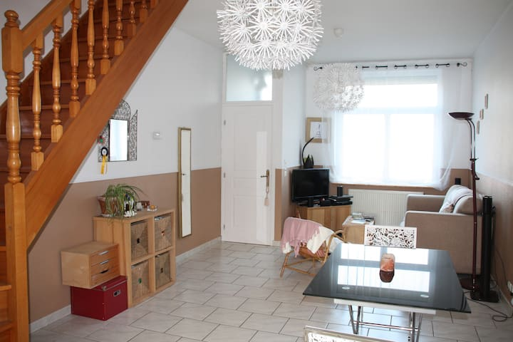 Bright single bedroom in a pleasant house - Tourcoing - Rumah