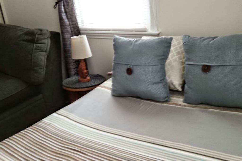 Full Size Bedroom with laptop friendly utility desk and chair