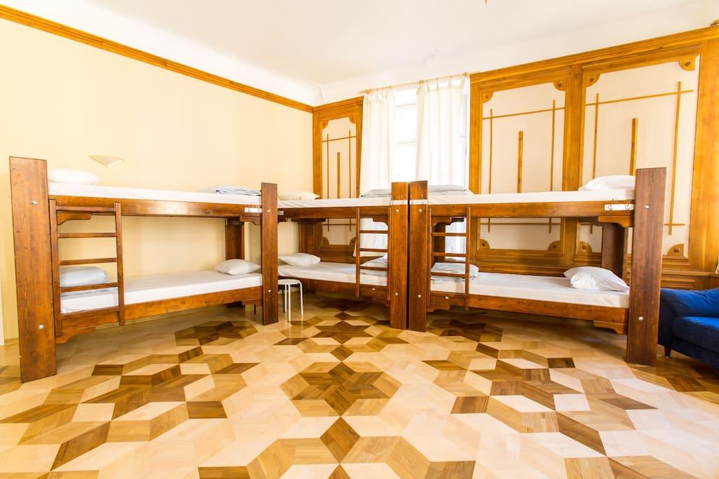 The room has plenty of space