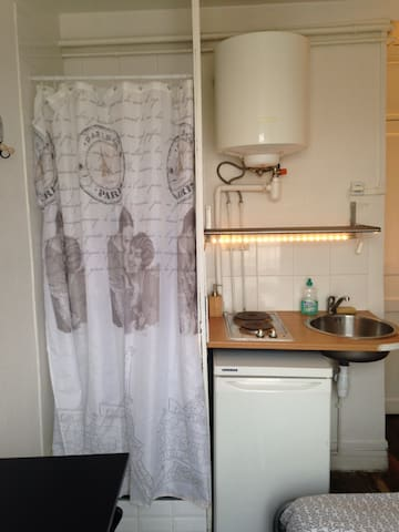 Douche et Kitchenette