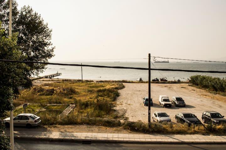 Sunny apartment with sea view! - Kalamaria - 公寓