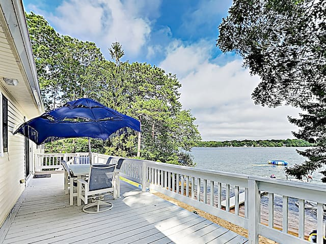 Chic Waterfront Retreat w/ Dock & Private Beach
