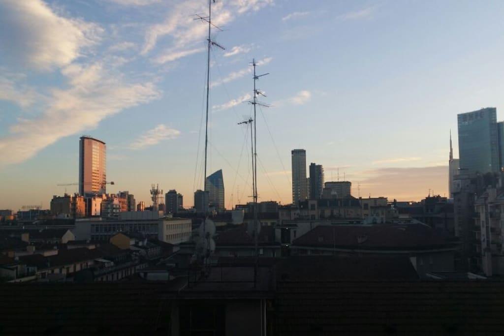 Balcony panorama - Milano skyline
