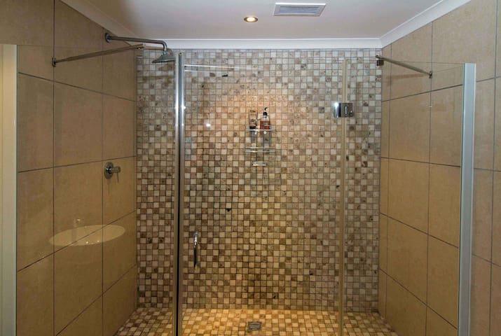 Very spacious shower!