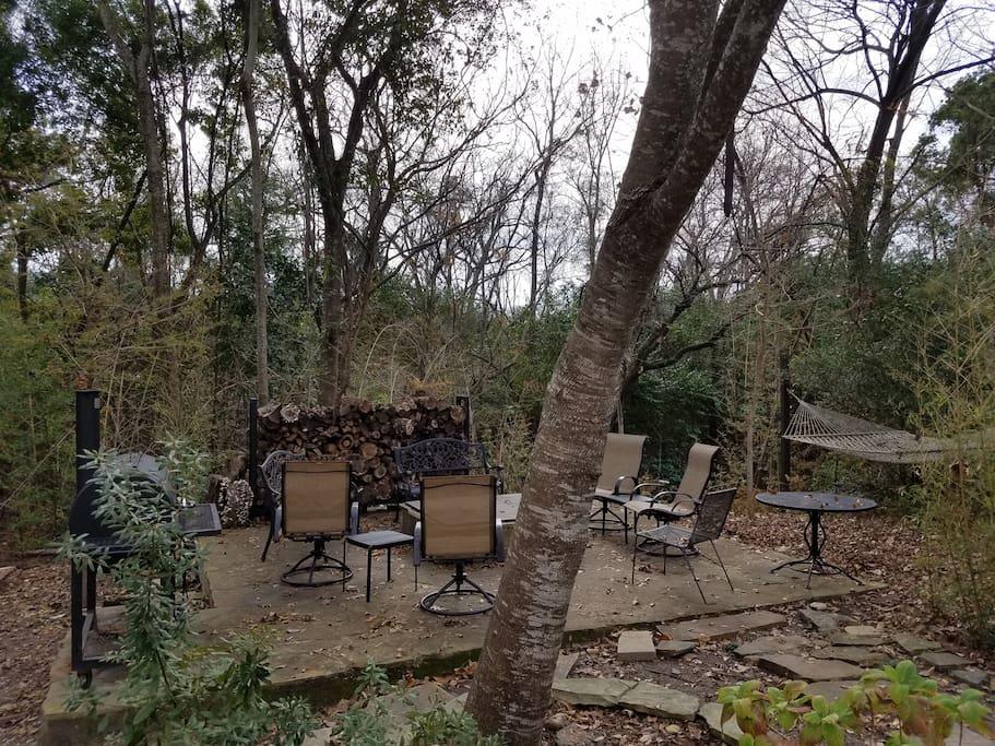 Hammock and Backyard Seating