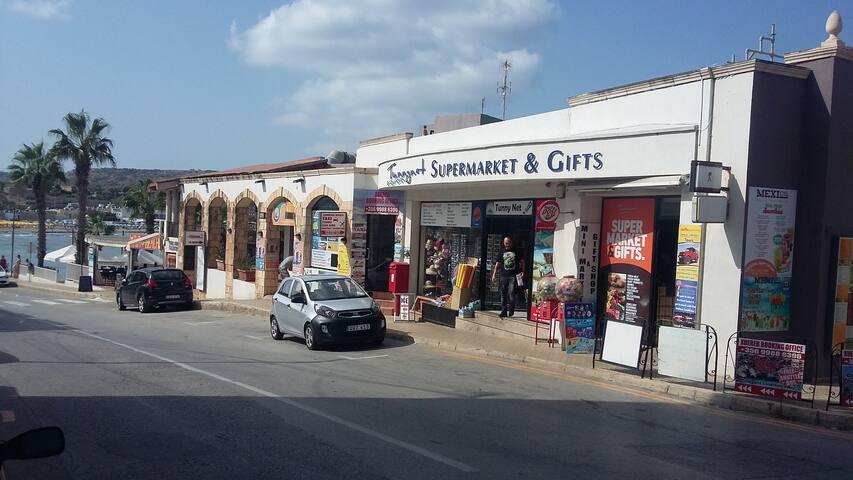 Local  shop , mini market  near beach.