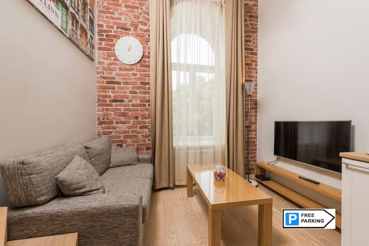 3D00RS Loft in❤️Tallinn +parking, 3min to Old Town