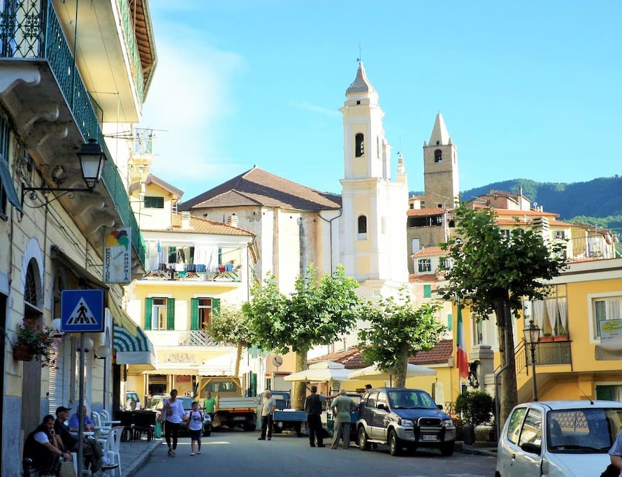 The main street with 3 bars, 1 gelateria, 3 food stores, one hairdresser and a hardware store