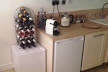 Honesty bar, fridge, freezer, cooker , microwave & dish washer!