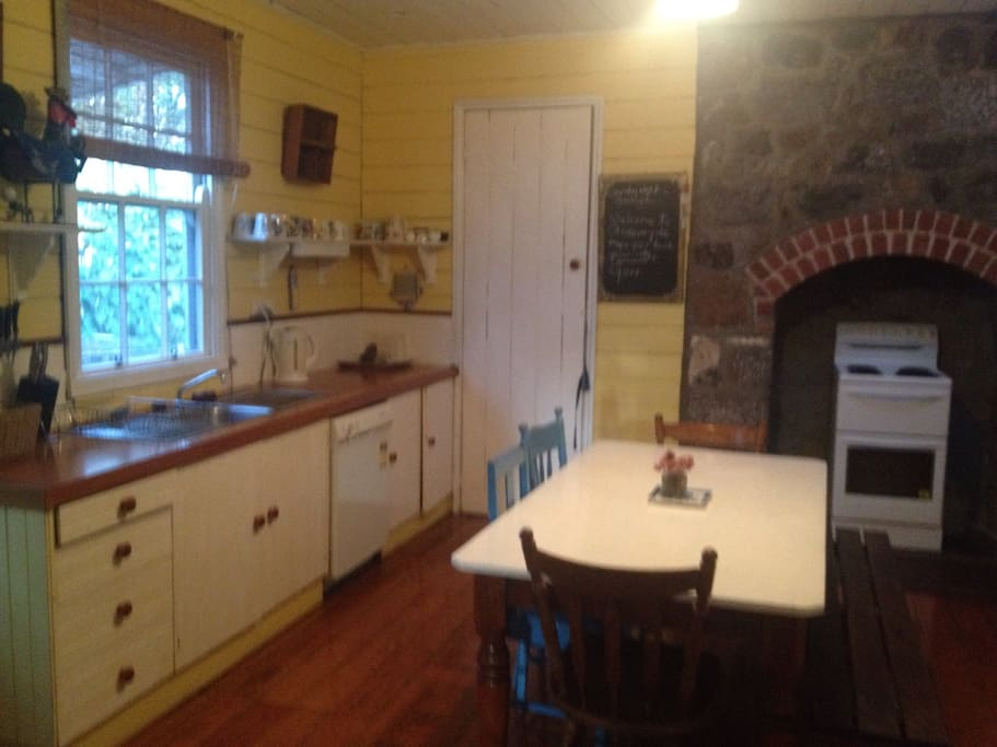 Full kitchen with casual dining