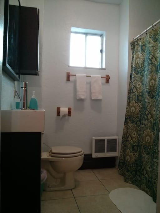 You'll be sharing this bathroom with the occupant(s) of one other room.