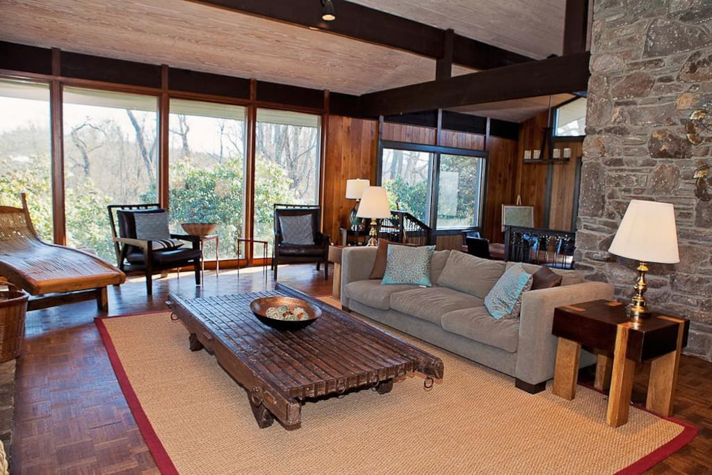 Cozy living area with beautiful views