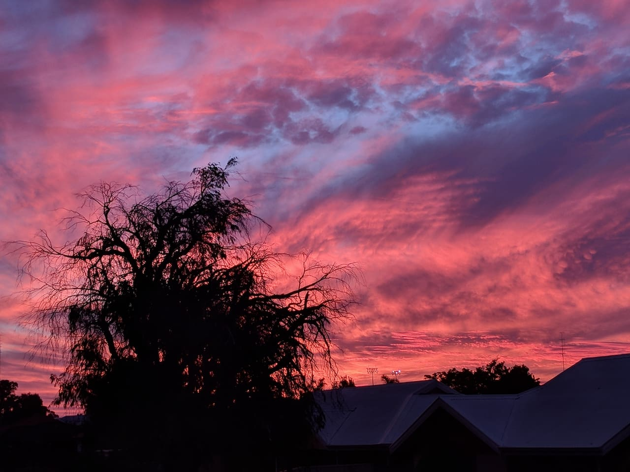 A glorious sunset viewed from our Gazebo