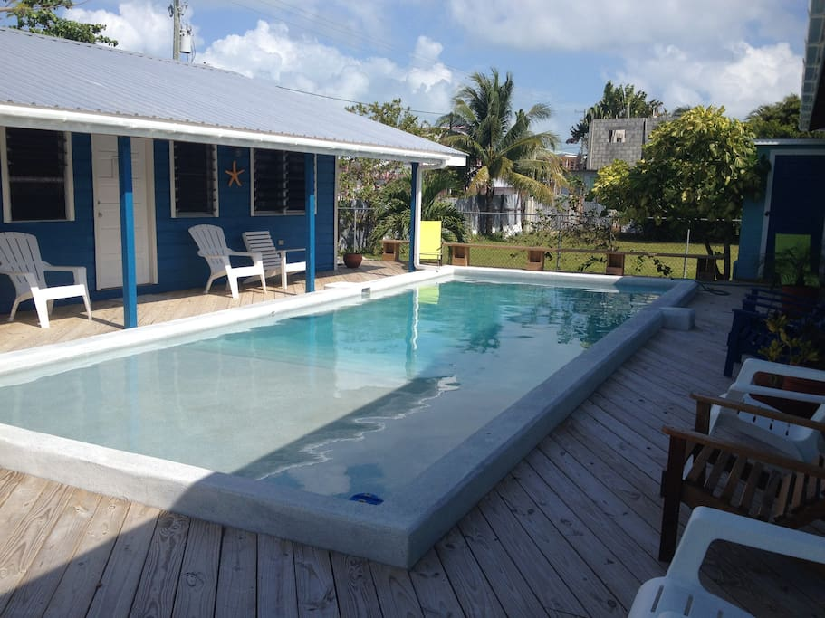wonderful pool, loungers, chairs to relax