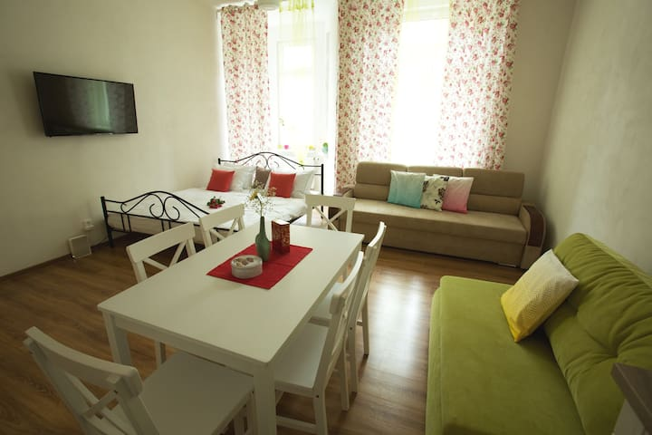 Cosy apartment centre WI-FI Balcony Teplice CR