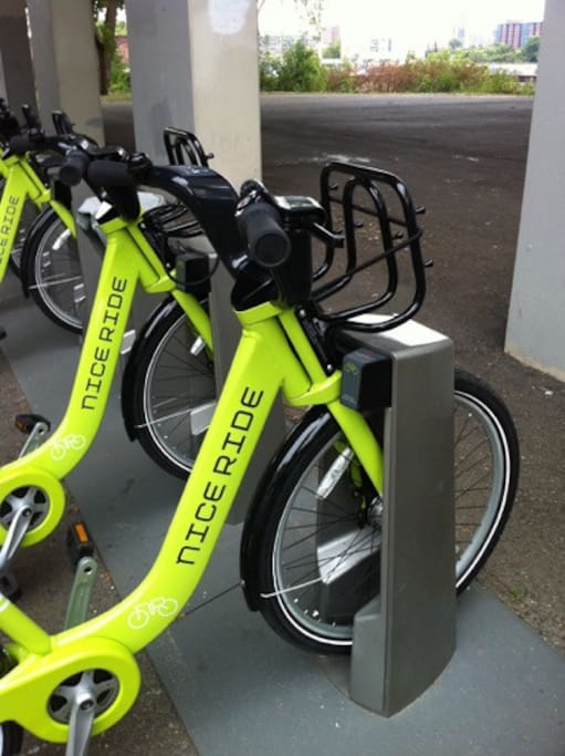 We offer free membership pass to NiceRide, the city bike share system.