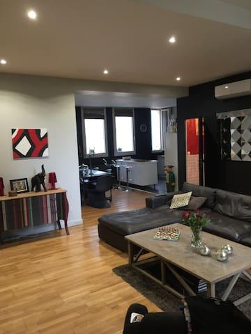 Appartement  loft plein centre 120 m2 + terrasses