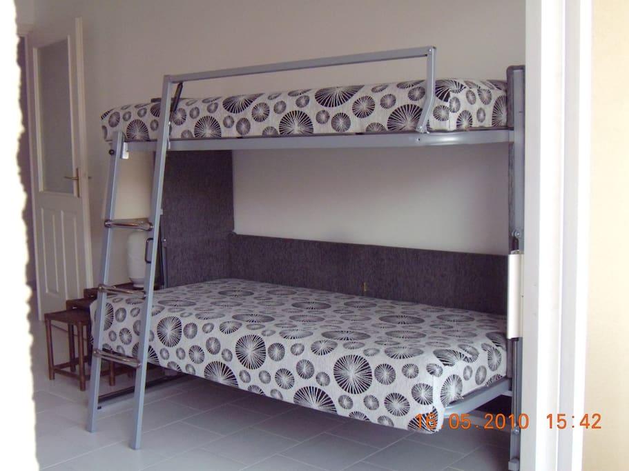 Canapé  2 lits simples superposés